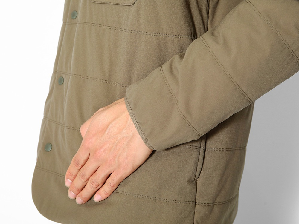 Flexible Insulated Cardigan M Brown