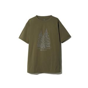 Graphic Tee Snow Tree M Olive
