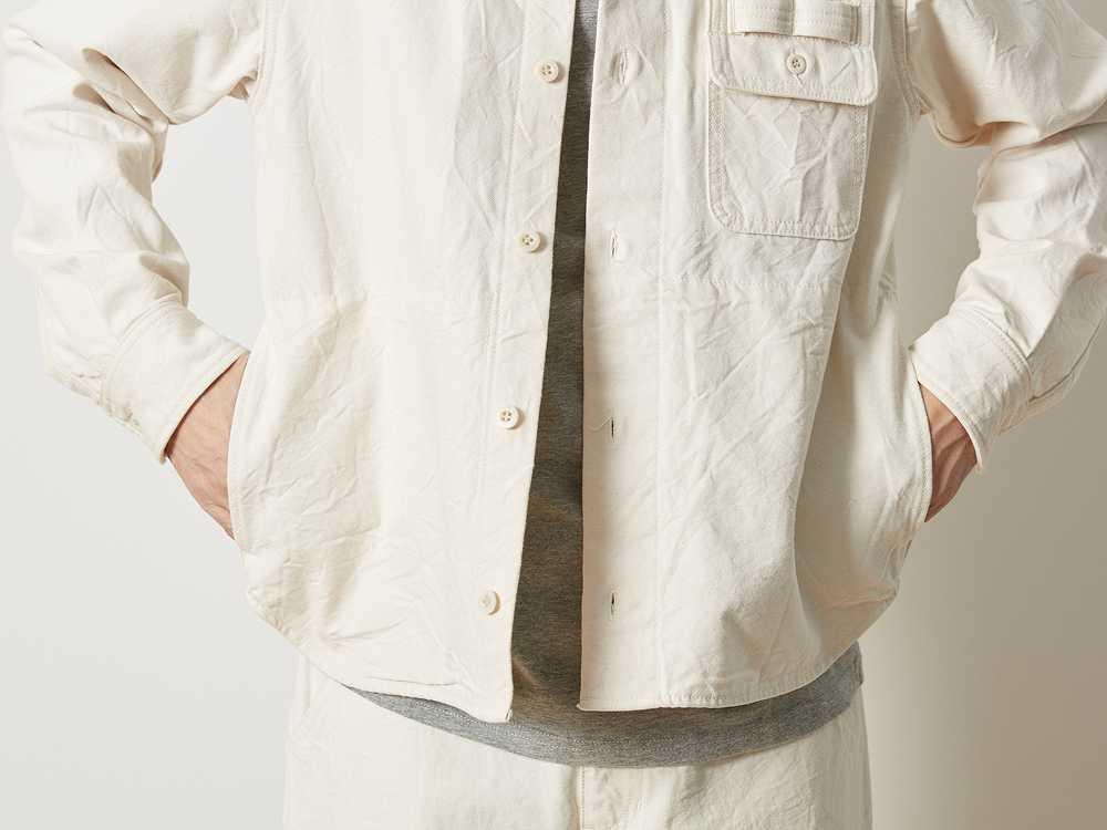 オカヤマ オックス ワークシャツ エクリュ S