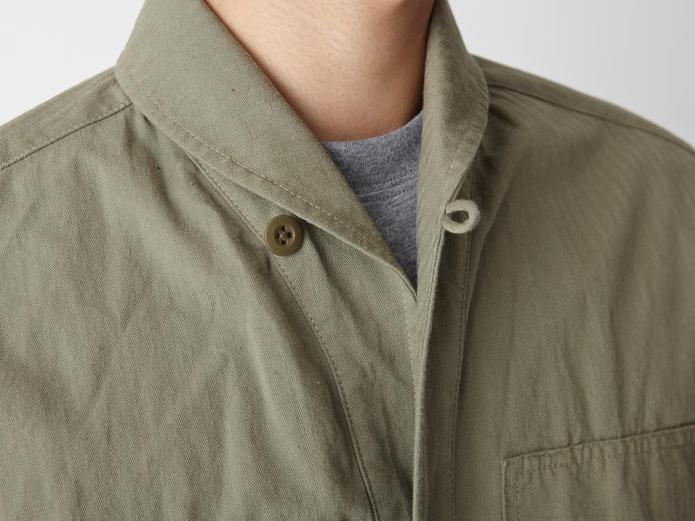Herringbone Field Shirt M Olive5