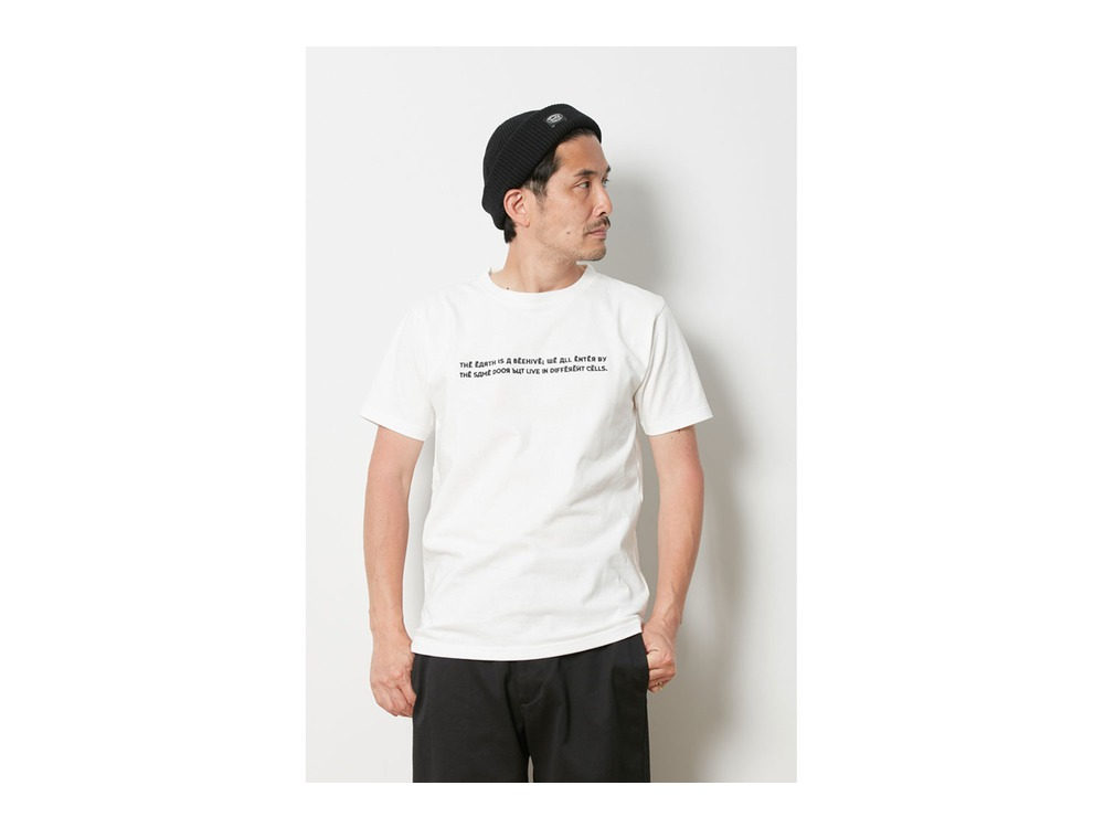 Typography Tee  M White
