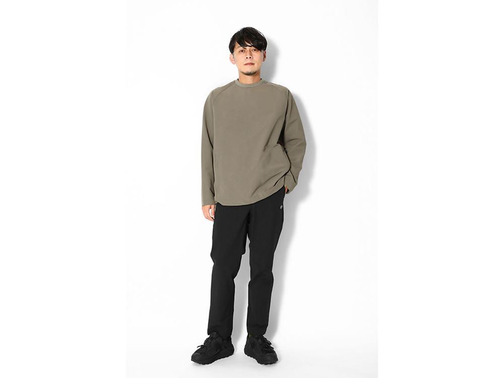 Nylon Power Wool Pullover M Brown