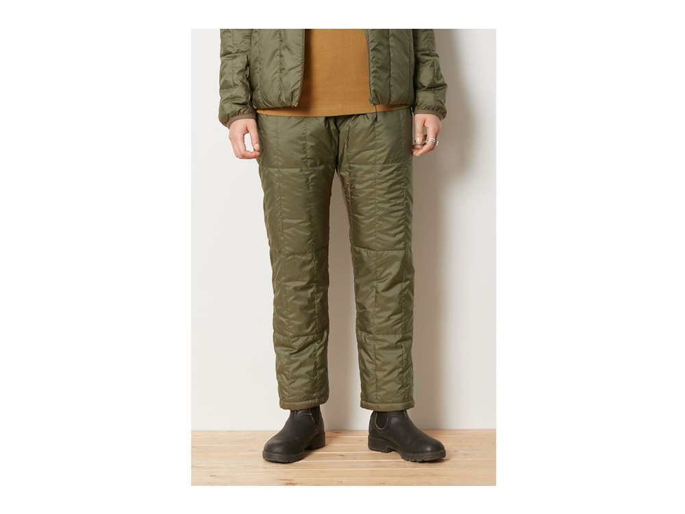 Recycled Middle Down Pants 1 Olive