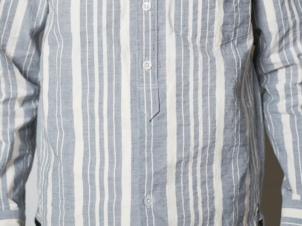 オーガニックストライプシャツ 1 エクリュ