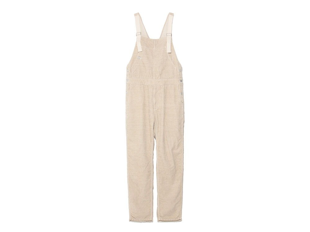 Linen corduroy overalls L Natural0