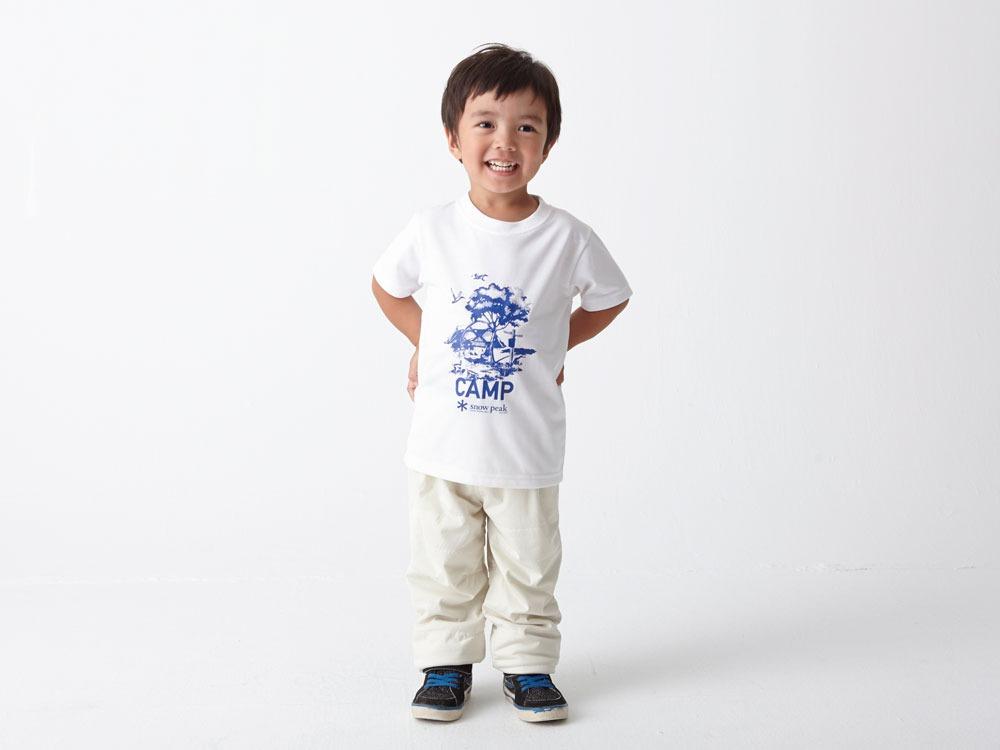 Kid's Printed Tshirt:Camp Field 4 White1