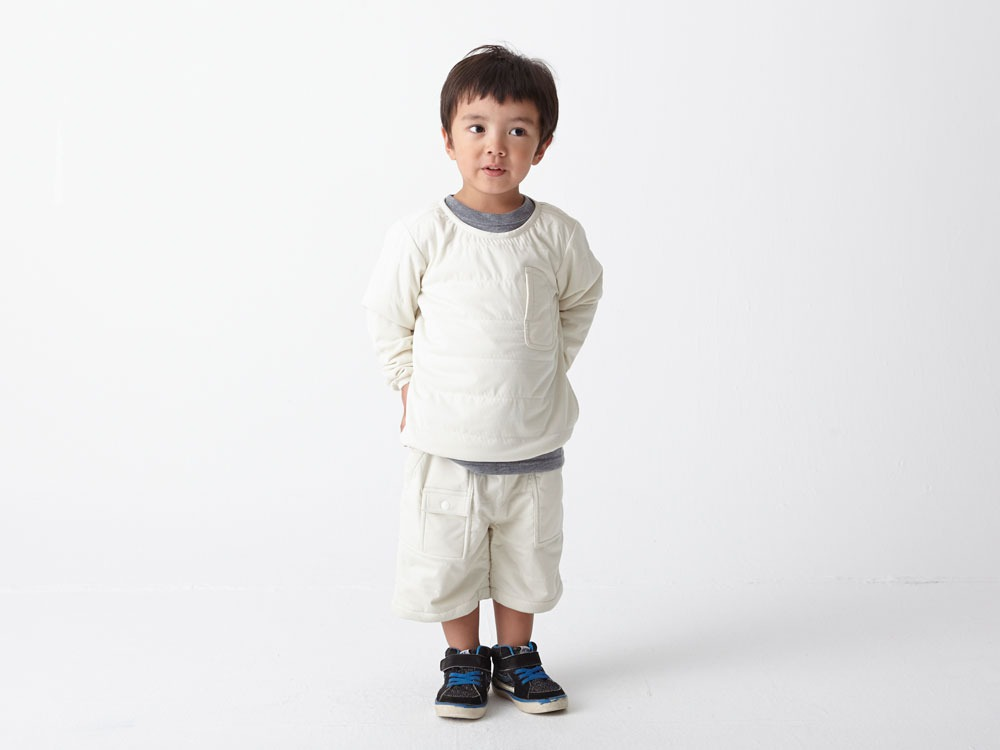 Kids Flexible Insulated Pullover 4 White1
