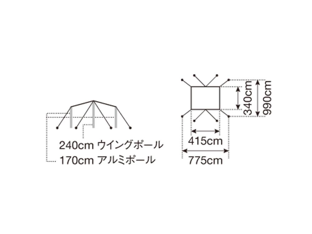 "HDタープ ""シールド""・レクタ(M)"