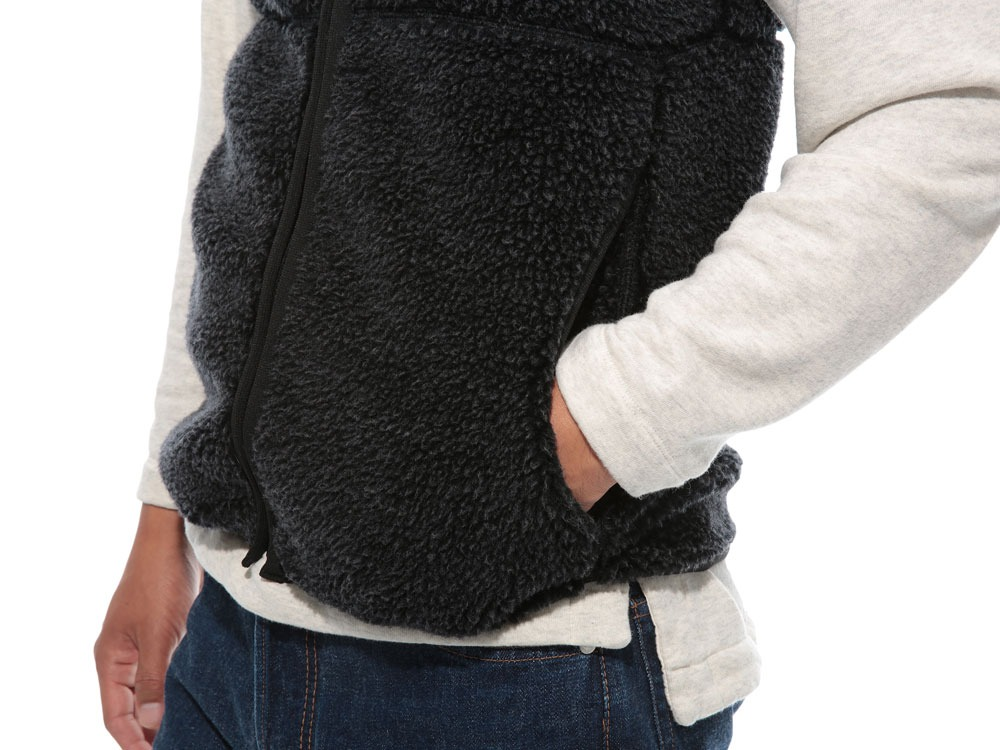Soft Wool Fleece Vest M Blue6