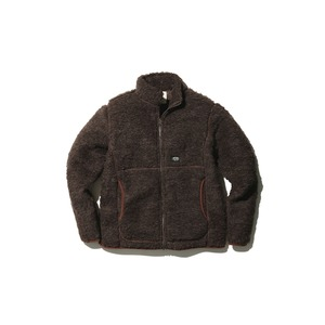 Wool Fleece Jacket M Brown
