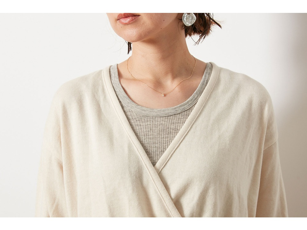 OG Cotton Cache-Coeur Cardigan 3 Brown