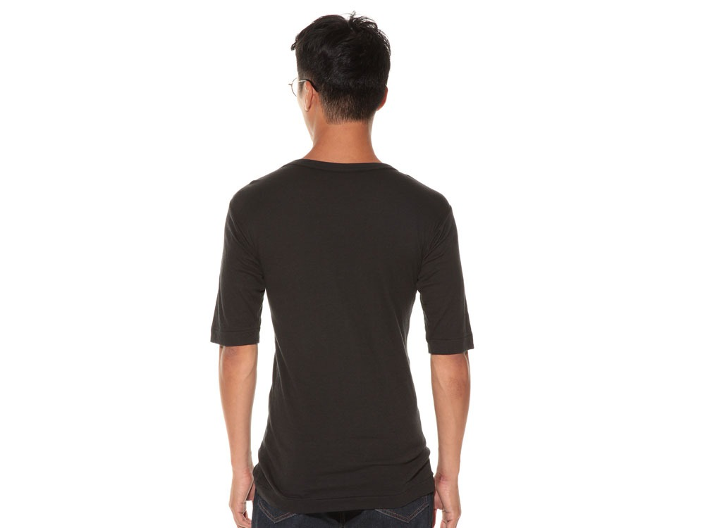 Ultimate Pima Double Knit Half Sleeve S Black4