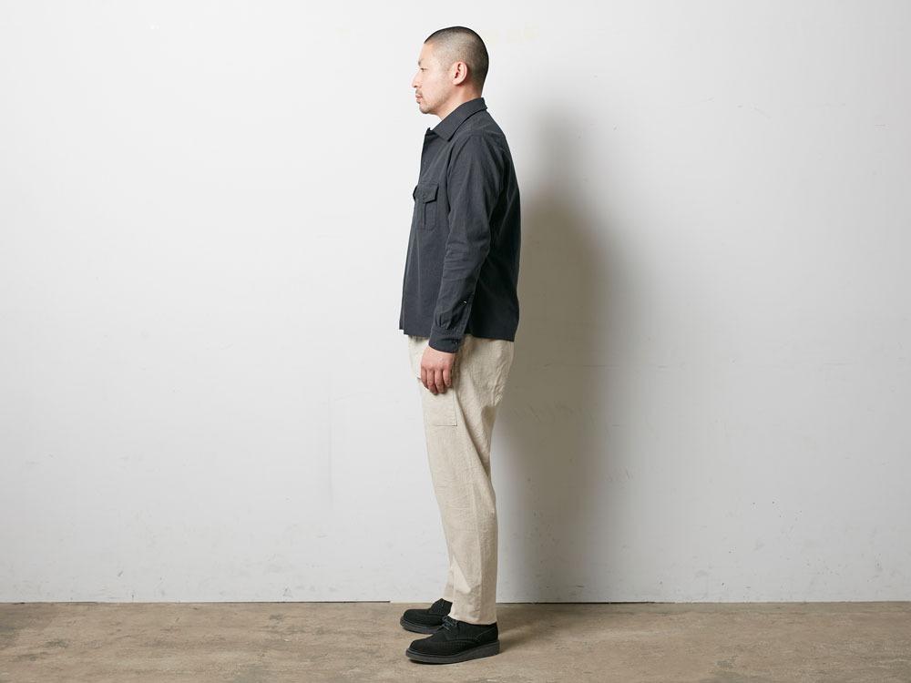 Safari Linen Shirt S Olive2