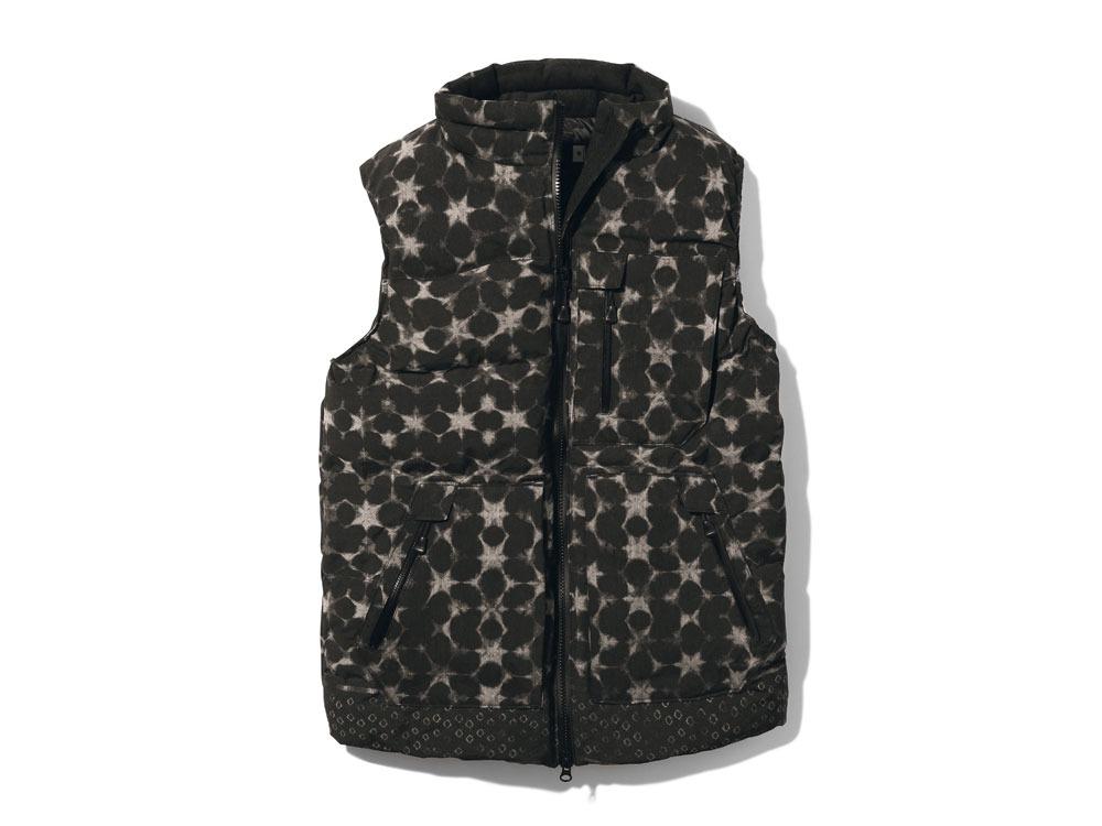 Indigo C/N Down Vest Print 2 Black0