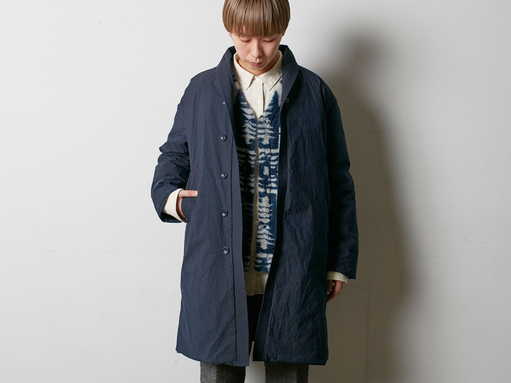 Indigo C/N Down Long Coat L Black4