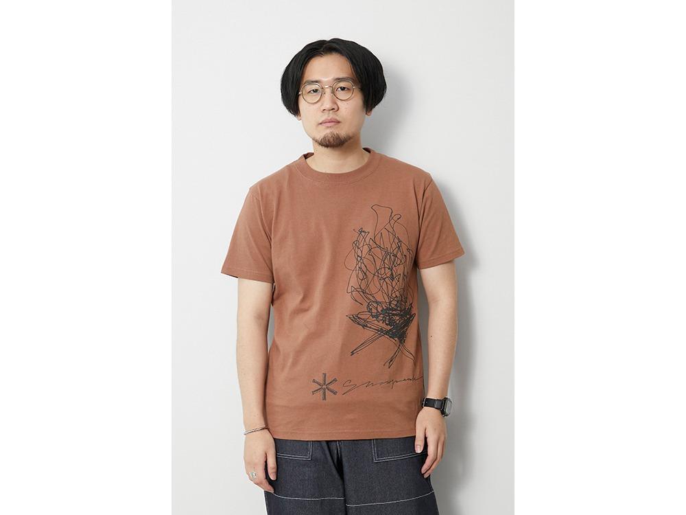 TAKIBI Graphic Tee L Khaki