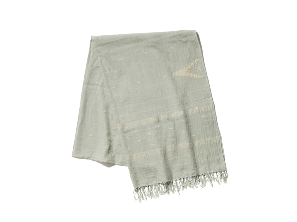 Cotton Silk Jamdani Stole 1 Sage
