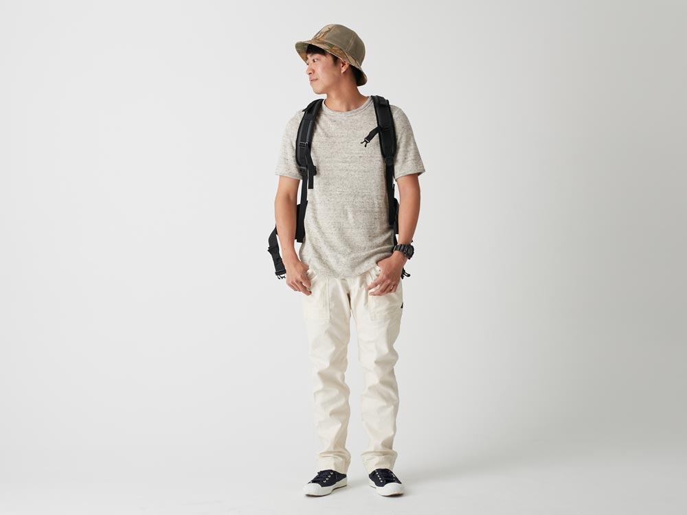 Linen Pile Tshirt XL Charcoal1