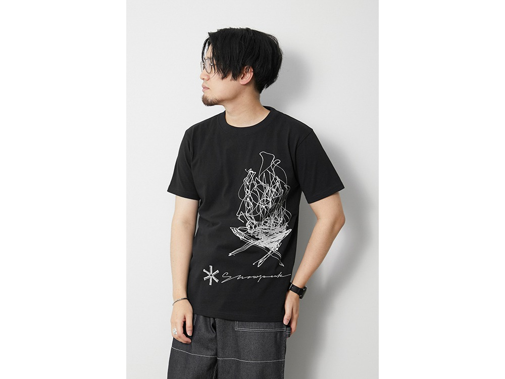TAKIBI Graphic Tee M Black