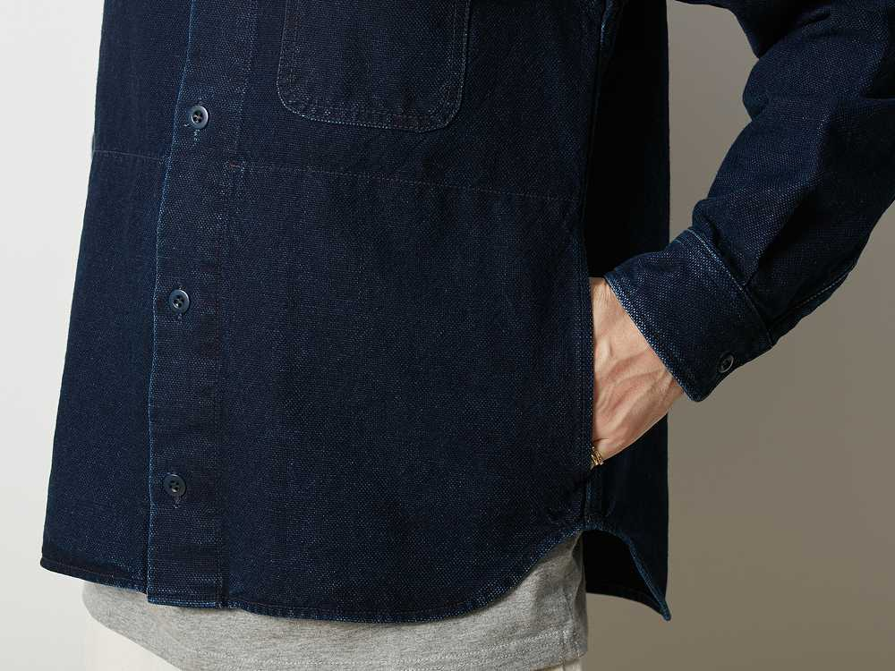 オカヤマ オックス ワークシャツ インディゴ 1