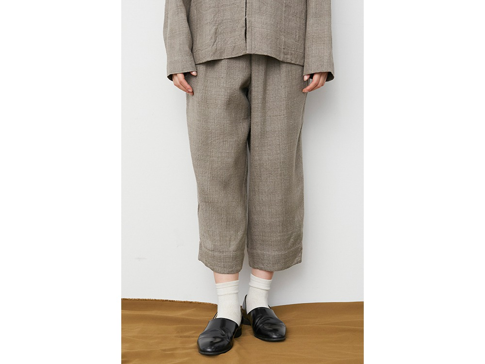 Hand-woven Wild Silk Pants 1 Ash