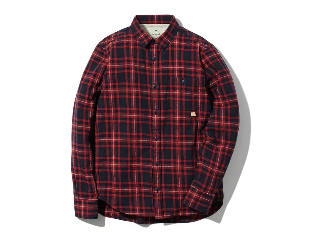 Check Flannel Shirt L Red0