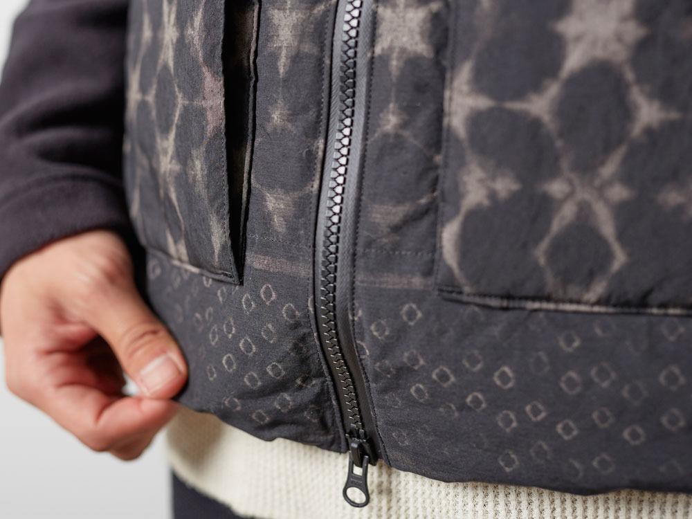 Indigo C/N Down Vest Print M Black9