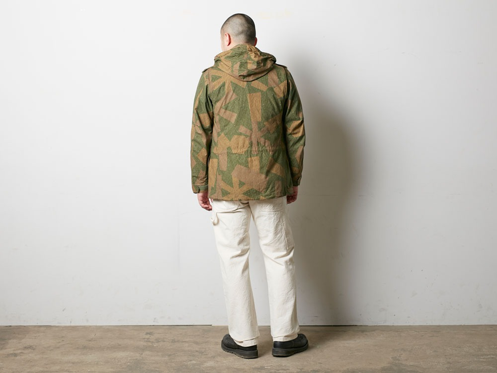 Printed Military Jacket L Khaki3