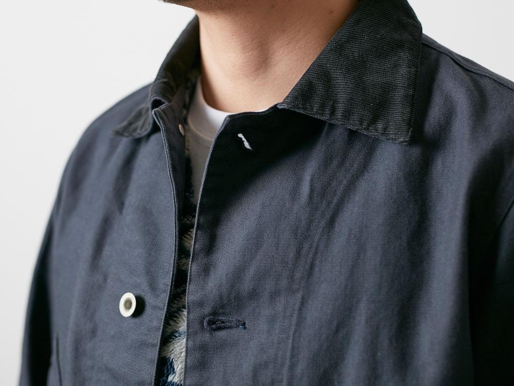 TAKIBI Shop Coat S Navy6