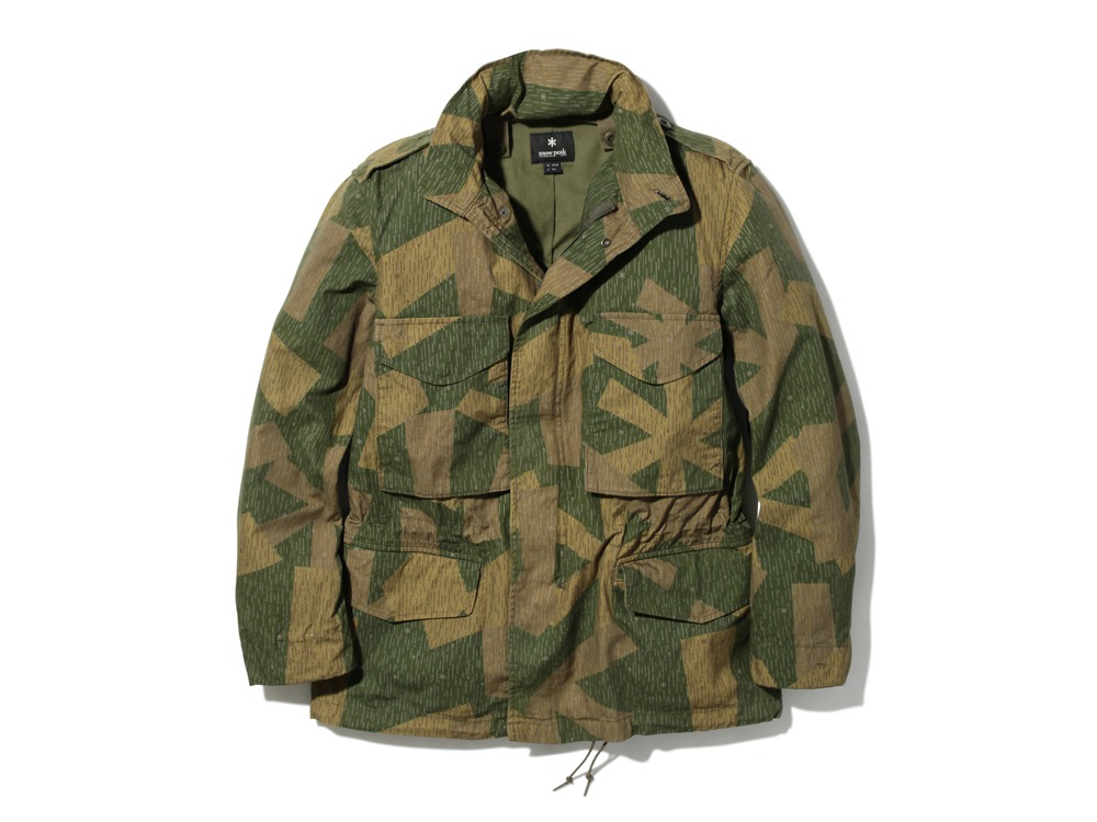 Printed Military Jacket XL Olive0