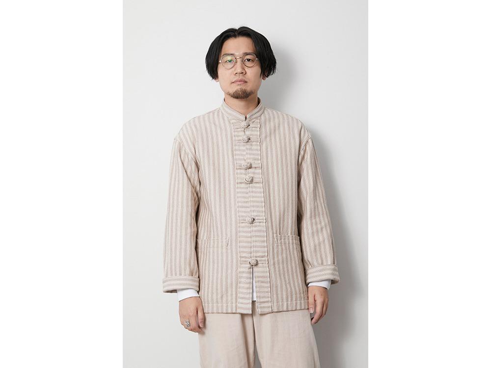 Cotton Herringbone Stripe CN JK 1 NV