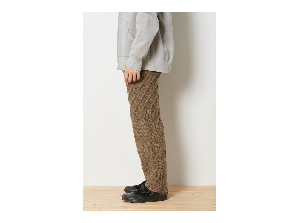 Alpaca Knit Pants 1 Brown