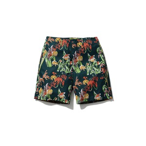 Printed Quick Dry Shorts M Green