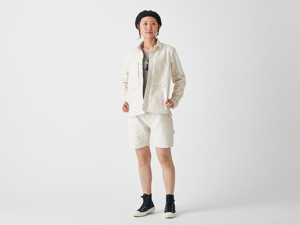 オカヤマオックスシャツ S エクリュ