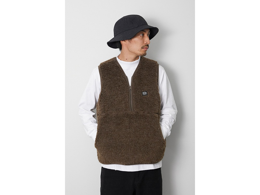 Wool Fleece Vest M Olive