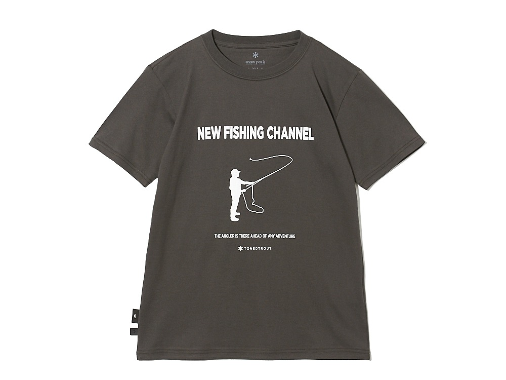 SP×TONEDTROUT Fishing Tshirt S CH