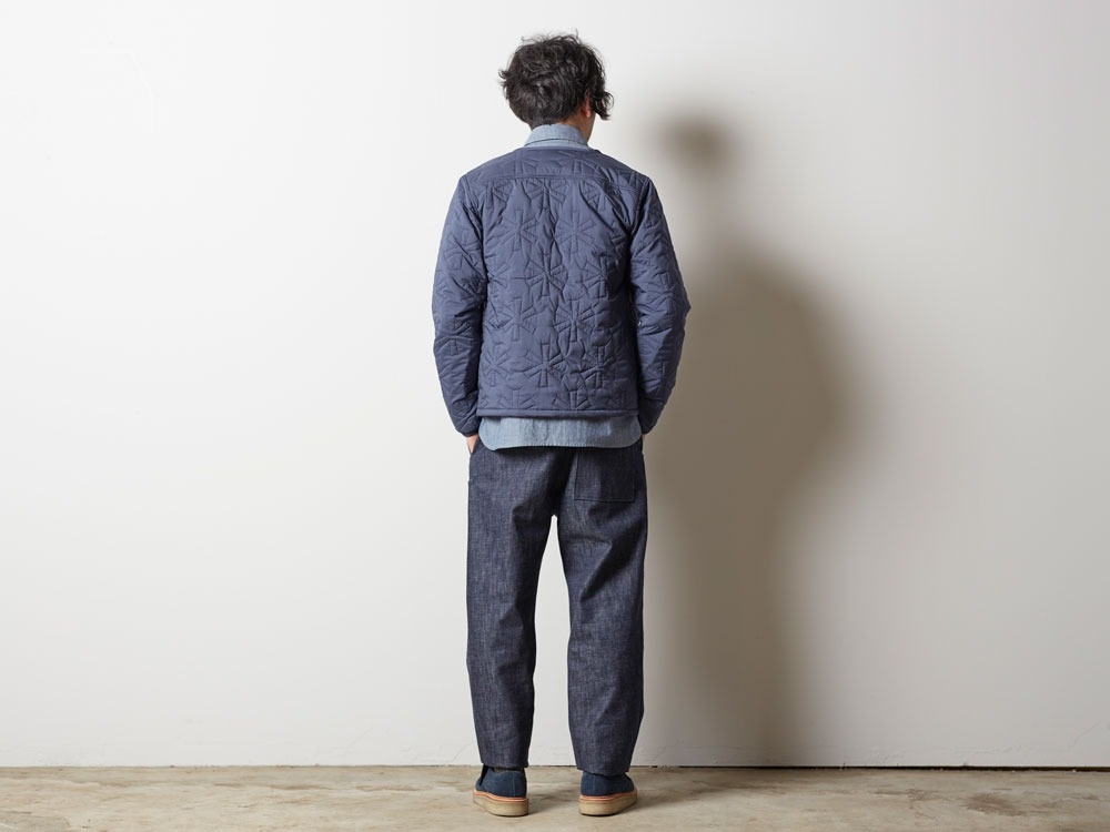 Quilting puff Jacket M Navy3