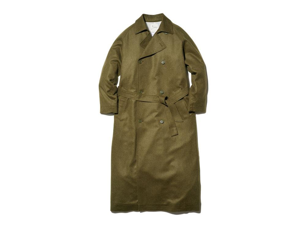 TIB Alpaca Trench Coat 1 Olive