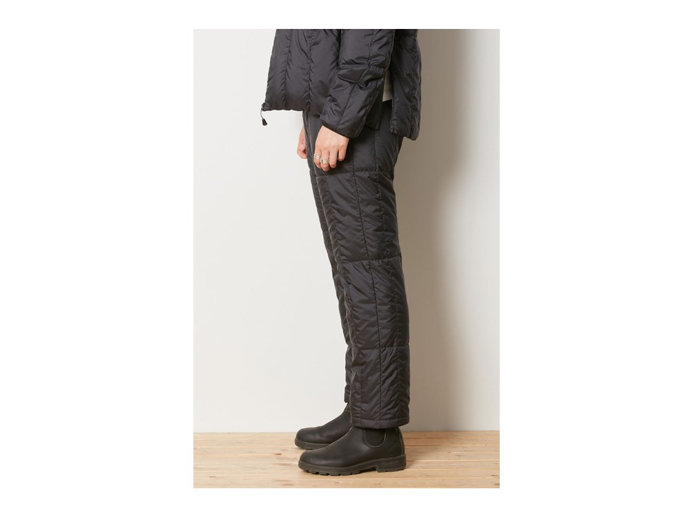 Recycled Middle Down Pants M Black