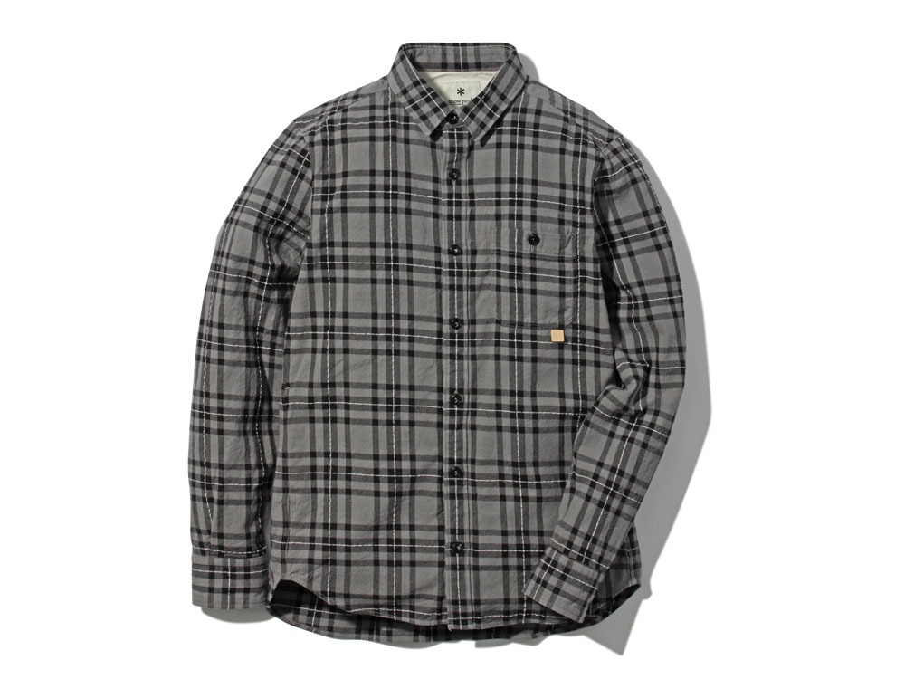 Check Flannel Shirt S Grey0