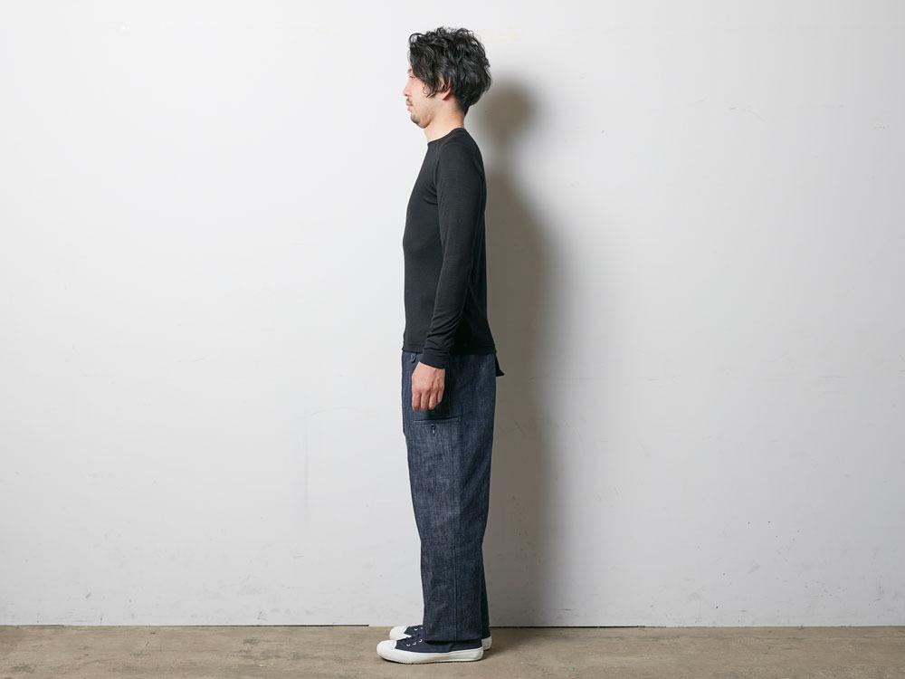 Super 100 Wool Shirt M Black2