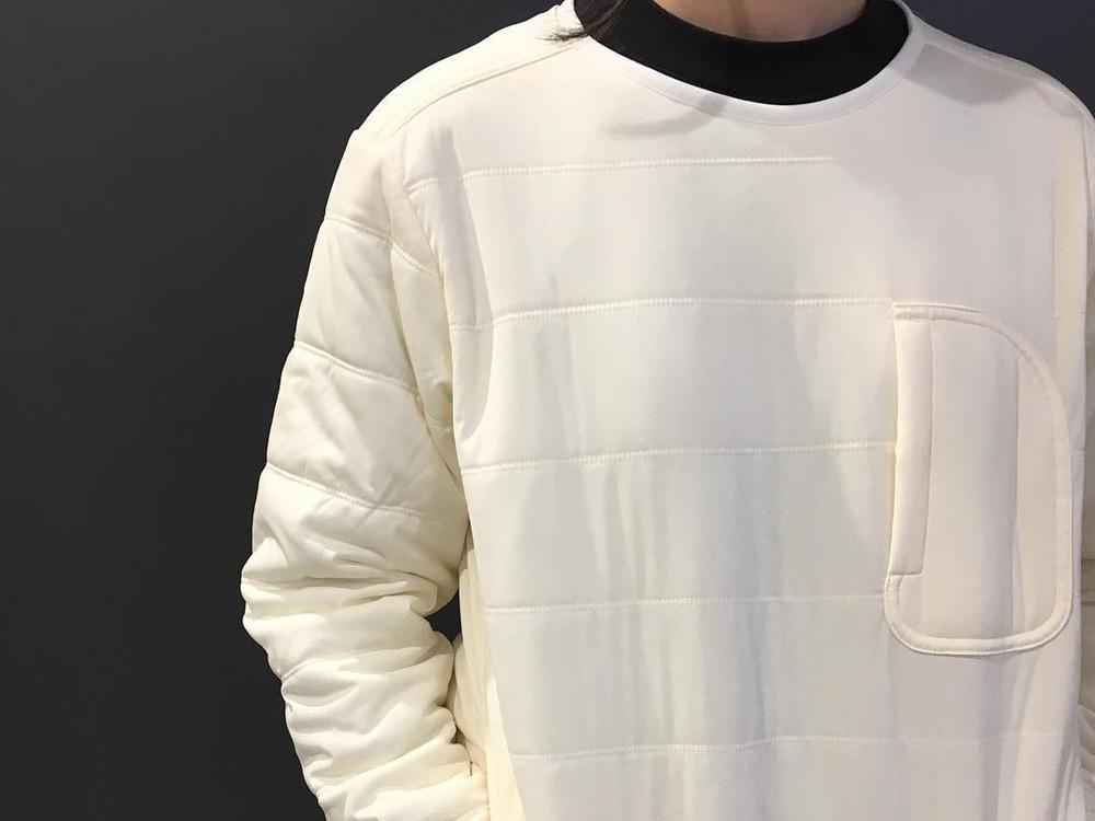 フレキシブルインサレーション プルオーバー S ホワイト