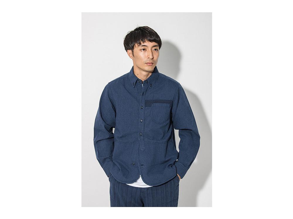 現代のワークシャツ  S Blue