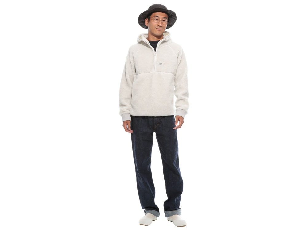 Soft Wool Fleece Pullover S Oatmeal1