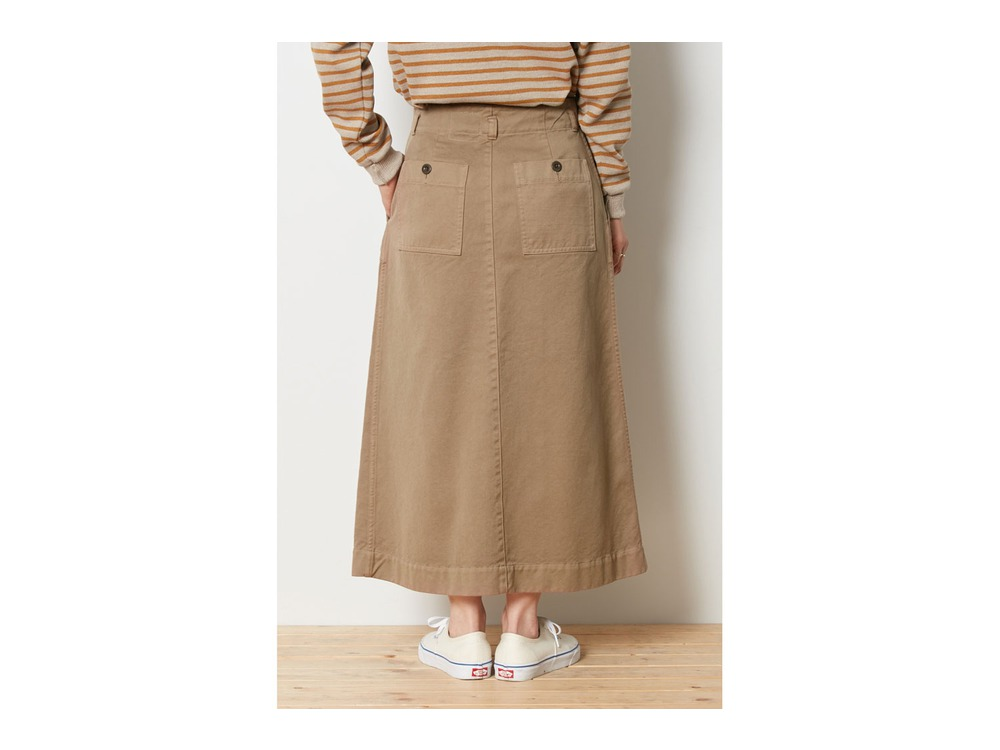 Ultimate Pima Drill Skirt 4 Ecru