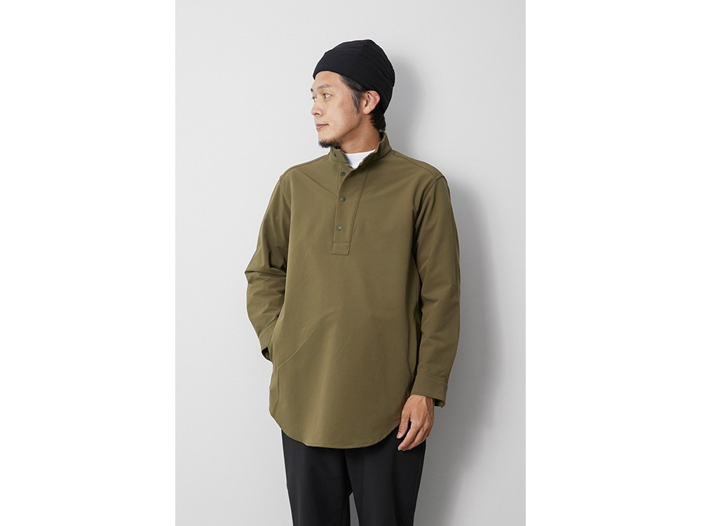 Nylon Power Wool Long Shirt L Olive