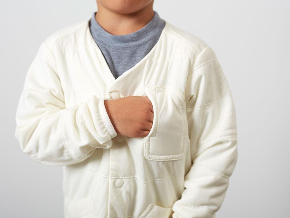 KidsFlexibleInsulatedCardigan 2 White5