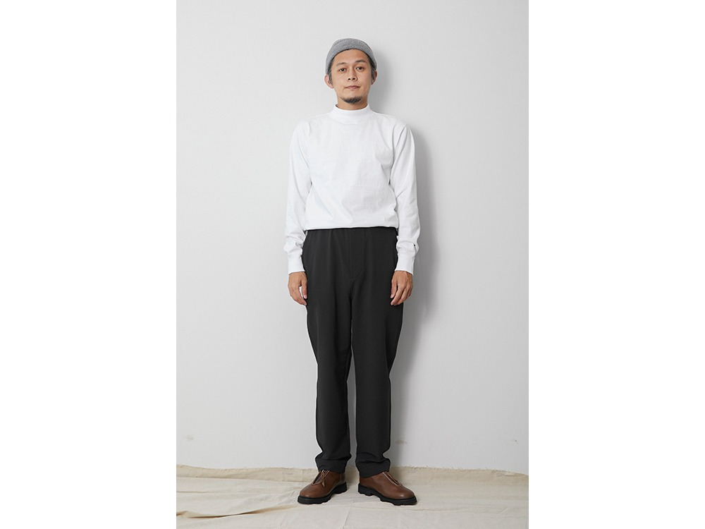 Nylon Power Wool Easy Pants M Black