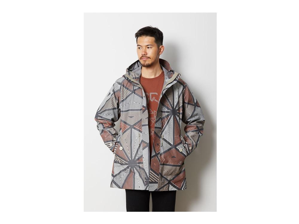 Printed eVent C/N Rain Jacket M Red