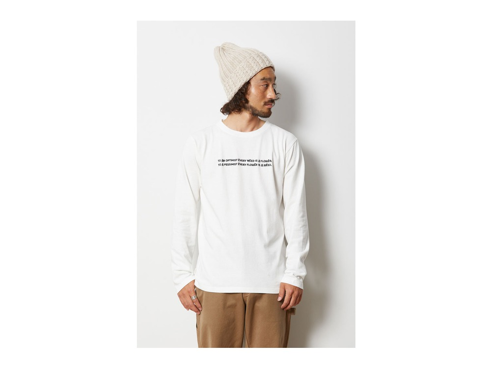 Typography ロングスリーブ Tシャツ L Brown